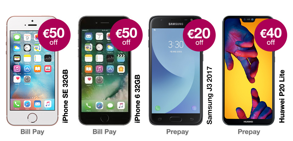 GET UP TO €50 OFF THE LATEST PHONES