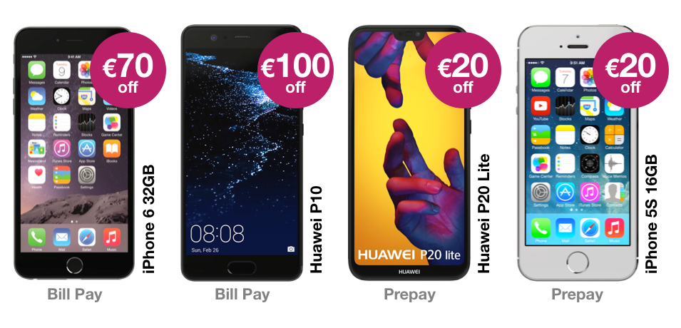 Get up to €100 off the latest phones