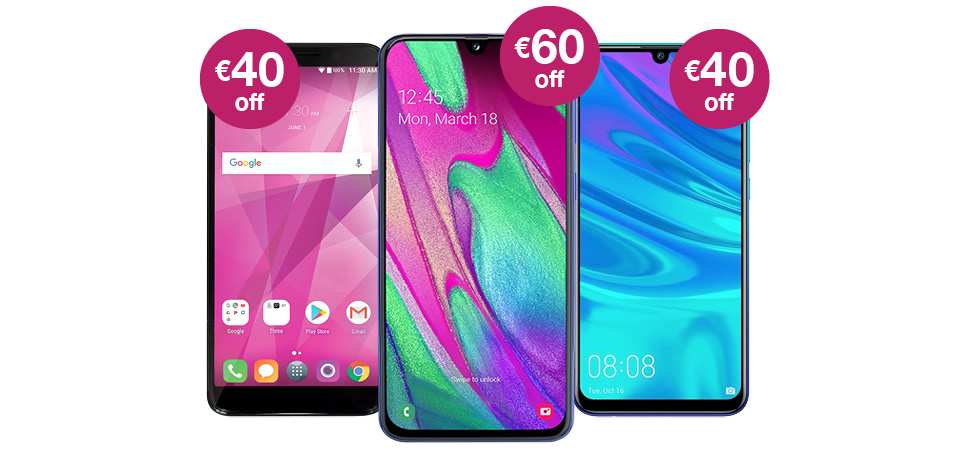 Great Phone Offers With All You Can Eat Data | Three ie