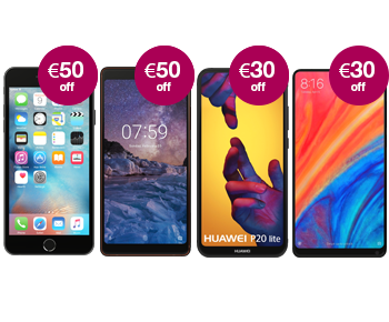Get up to €100 off the latest phones.