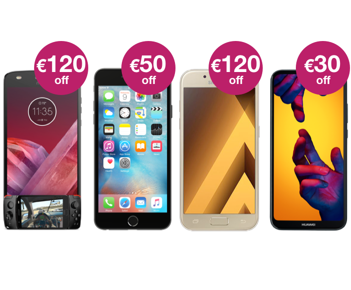 Get up to €120 off the latest phones