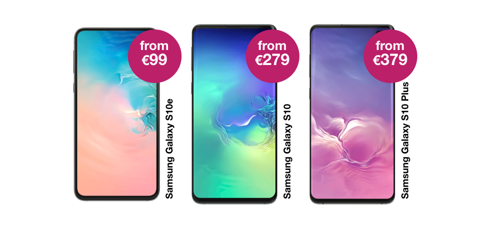 The Samsung Galaxy S10 Range