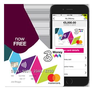 3Money Prepaid Credit Card   Three Ireland