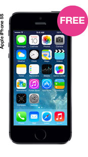 iPhone 5s with FREE 4G