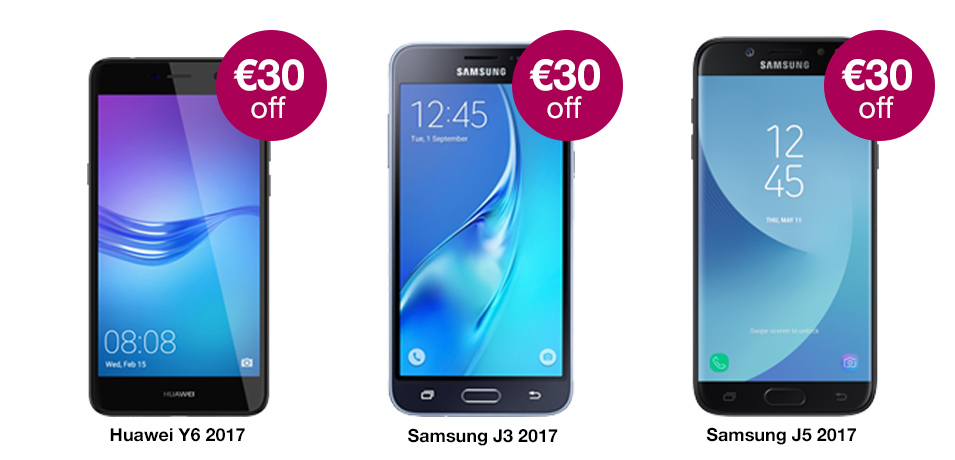 €30 off Prepay Phones